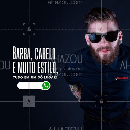 Marque seu horário, estamos ansiosos para te atender! #AhazouBeauty  #barbearia #barba #barber #barbeiro  #barberShop