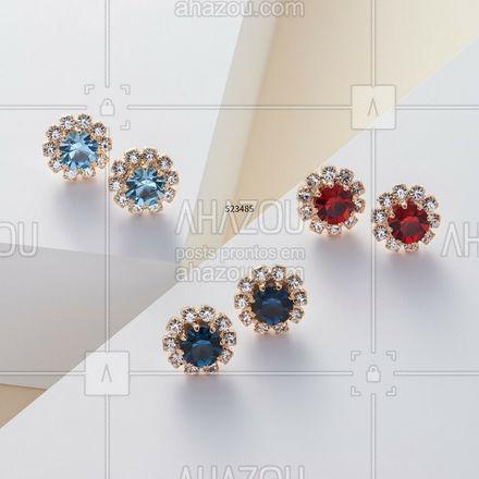 Dá para presentear todas as mulheres da família com os brincos coloridinhos da Rommanel! #Rommanel #ref523485 #ahazourommanel #ahazourevenda