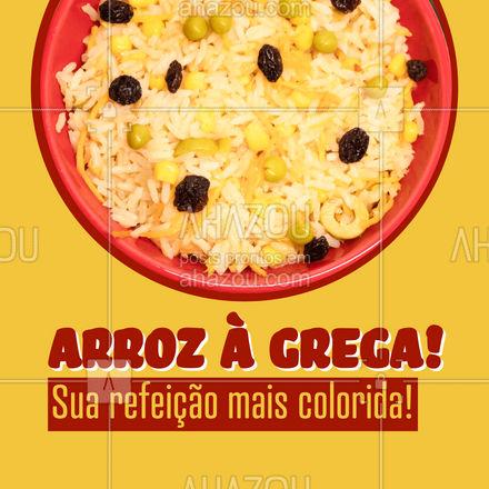 Não precisa ser uma ocasião especial para ter na sua mesa um arroz à grega delicioso! Venha já experimentar nossa marmita! #ahazoutaste #marmitex  #marmitando  #comidacaseira  #comidadeverdade  #marmitas