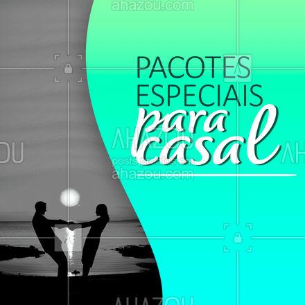 Já pensou fazer aquela viagem super especial com a pessoa amada? Então venha aproveitar esse pacote especial para casal. Entre em contato para saber mais. #comunicado #pacoteespecial #AhazouTravel  #viagens #agenciadeviagens #viajar