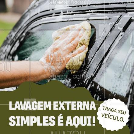 Não ande por aí com o carro sujo! Traga ele para uma limpeza externa! #AhazouAuto #lavajato #carros  #limpezadecarros #esteticaautomotiva