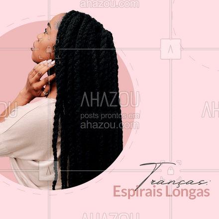 Se você gosta de cabelos longos, então este é o visual para você. Longas espirais são apenas a aparência e adicionar um pouco de cor ao contraste.????  #AhazouBeauty #trança #trançaespiral #curiosidade #dica #tendencia  #cabeloperfeito  #hair  #cabeleireiro  #salaodebeleza  #cabelo