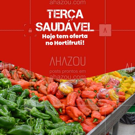 Quanto mais promoção, mais saúde, por favor! Terçou com desconto no hortifruti, aproveite! #ahazoutaste  #hortifruti #organic #qualidade #alimentacaosaudavel #vidasaudavel #mercearia #frutas #terçasaudável #promoção