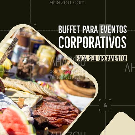 Vai organizar de um evento corporativo? Nós temos o buffet ideal. Entre em contato para fazer seu orçamento! #ahazoutaste #buffet #eventocorporativo #eventos #confraternizacao