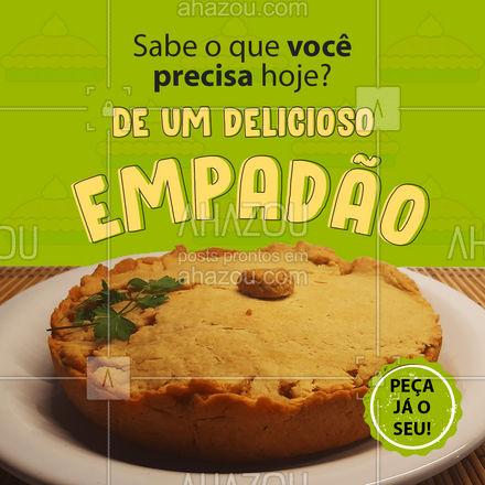 Hoje o dia está perfeito para comer um empadão! ?? #Empadão #Salgados  #ahazoutaste  #confeitaria #foodlovers