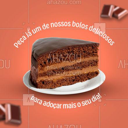 Um bom bolo alegra qualquer dia, peça já o seu! 🍰 #ahazoutaste #padaria #confeitaria #padariaartesanal #bakery #bolos #bolosdeliciosos