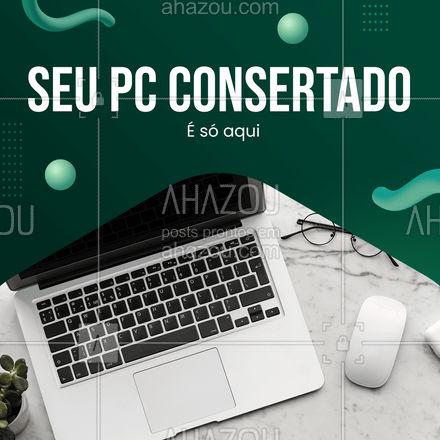 Procurando um lugar que deixe o seu PC novinho em folha? Acabou de achar ? #AhazouTec #AhazouTec  #conserto #pc #assistenciatecnica  #computador #assistentetecnico