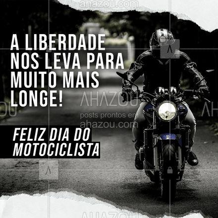 Ser motociclista é ser livre para ir onde quiser!  #AhazouAuto  #automotivos #esteticaelavajato #motos #motociclismo #automotivo #manutenção