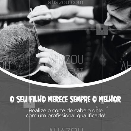 Marque agora o corte de cabelo do seu filho e deixe ele ainda mais lindo para o dia das crianças! #AhazouBeauty #cabelo  #salaodebeleza  #cabeleireiro  #hairstylist  #hair  #cabeloperfeito