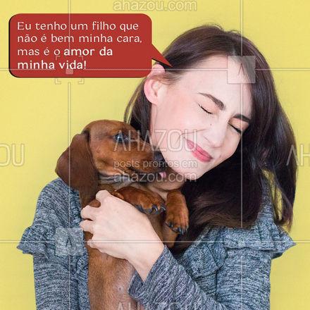 Ninguém me tira o direito de ser mãe de pet! ?❤️ #AhazouPet #ilovepets #petsofinstagram #petoftheday #petlovers