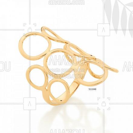 O maxi anel mais amado da Rommanel! #Rommanel #ref511048 #ahazourommanel #ahazourevenda