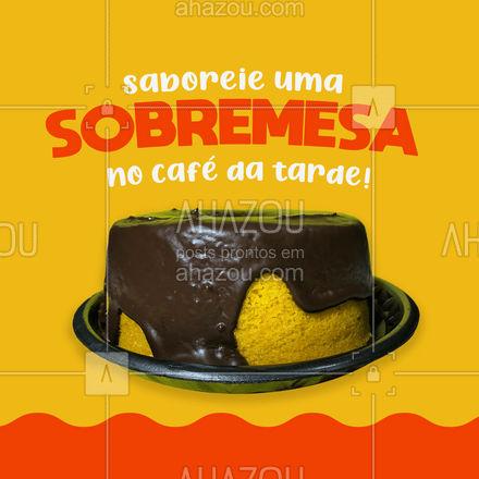 Vai um bolinho para acompanhar o café da tarde? ?☕ #ahazoutaste  #cafeteria #café #coffee #barista #coffeelife #sobremesa