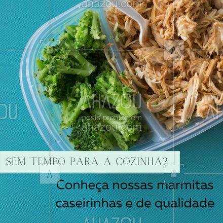 Praticidade e muito sabor para o seu dia corrido, faça o seu pedido! #marmita #ahazoutaste #almoço #comidacaseira