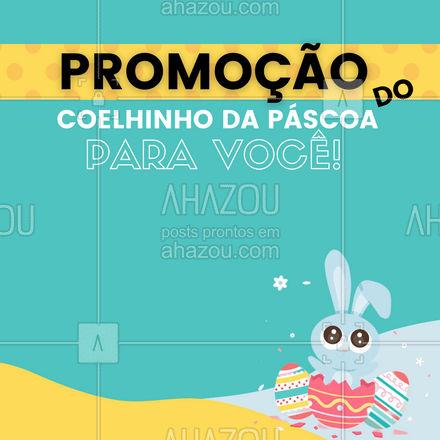 E que tal esse presente do coelhinho da Páscoa? Aproveite nossos descontos! #promoção #páscoa #ahazou #feriado #descontos