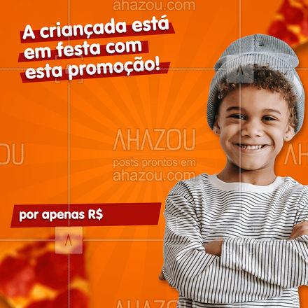 Dia das crianças bem comemorado é com um combo totalmente kids. Aproveite nossa promoção! 🥰 #ahazoutaste #pizzaria  #pizza  #pizzalife  #pizzalovers