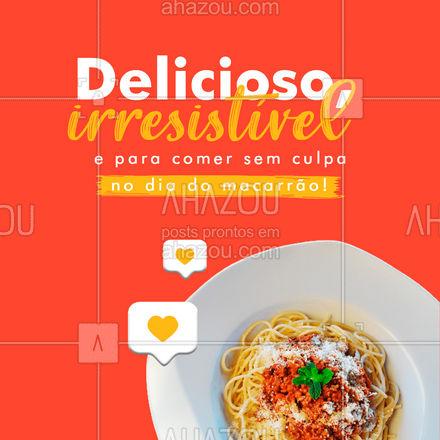 Escolha o seu macarrão favorito e comemore o dia de hoje da melhor maneira: comendo! 😍🍝 #diadomacarrao #macarrao #ahazoutaste  #pasta  #restauranteitaliano  #massas  #comidaitaliana