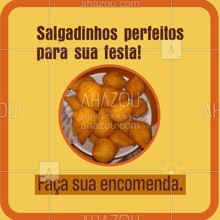 Faça ja sua encomenda de deliciosos salgados para festa. Surpreenda seus convidados!  #ahazoutaste  #kitfesta #salgados