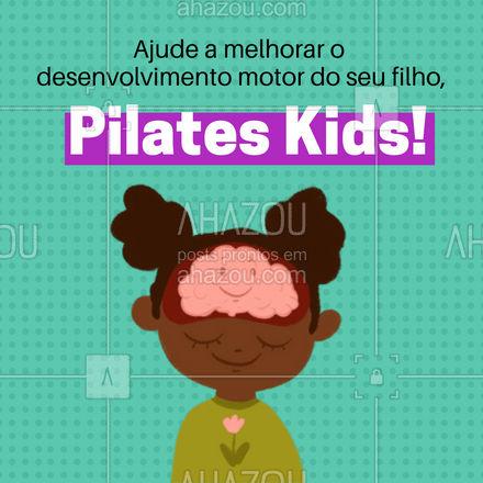 Ter um bom desenvolvimento motor pode garante a criança um controle maior sobre o seu corpo, ajudando no desenvolvimento e bom crescimento. A prática de Pilates ajuda a potencializar esse desenvolvimento. ?♀️ #AhazouSaude  #pilates #pilateslovers #pilatesbody #pilateskids