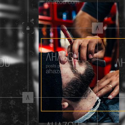 Porque barba de verdade se corta na navalha, te deixando com um visual de respeito. E aí, pronto para se barbear do jeito certo? ? #editaveisahz #AhazouBeauty