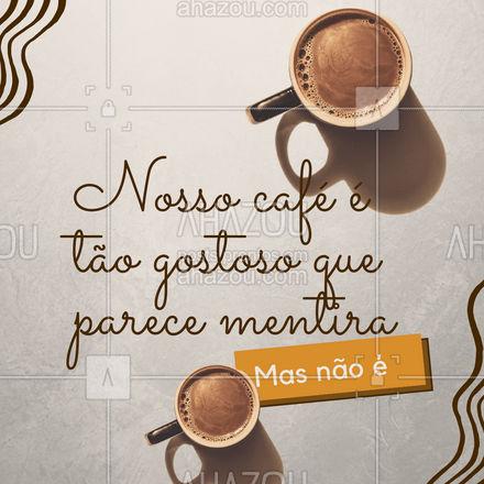 Aproveite um dia cheio de mentiras com um sabor de verdade. ❤️Estamos esperando sua visita!  #ahazoutaste  #cafeteria #café #coffee #barista #coffeelife
