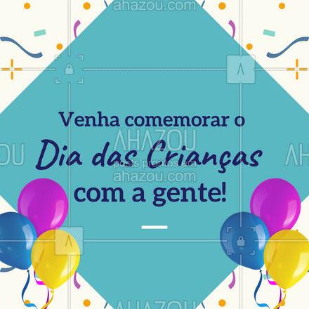 Vamos celebrar esta data juntos! Traga suas crianças e venham todos! #AhazouFé #diadascriancas #festa #comemoracao  #gratidão  #fé