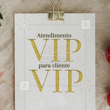 Para nós cada cliente é VIP, é por isso que o nosso atendimento é sempre VIP. E aí, tá esperando o que pra ser atendido do jeito que você merece? #ahazoutaste #atendimento #VIP #restaurante