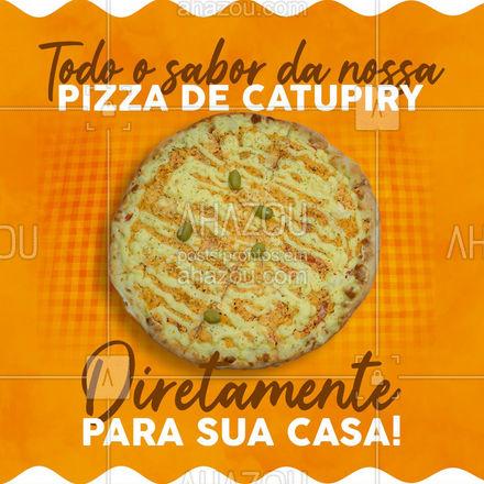 Não da para resistir a essa delicia, não é mesmo? Então peça já a sua! Aproveite e peça já a sua! #pizzaria #pizza #pizzalife #ahazoutaste #pizzalovers #sabores #pizzadefrangocomcatupiry #frangocomcatupiry