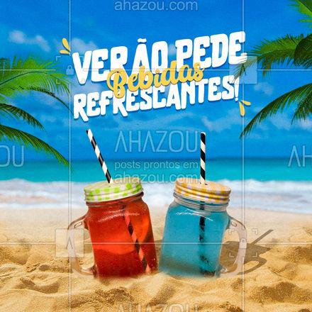 Aproveita que o verão está chegando e venha saborear nossas bebidas incríveis! ??  #BebidaRefrescante #Verao #Calor #ahazoutaste  #gastronomia #foodlover #culinaria