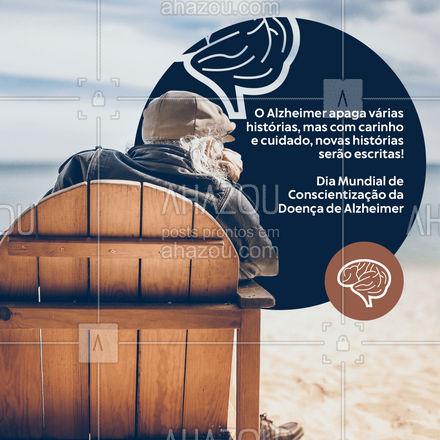 Dia Mundial de Conscientização da Doença de Alzheimer: A conscientização e o carinho são os primeiros passos para manter as lembranças vivas! #ahazou #frasesmotivacionais #motivacionais #quote #motivacional #diamundialdeconscientizaçãodadoençadealzheimer #frases #lembranças #memória #conscientização