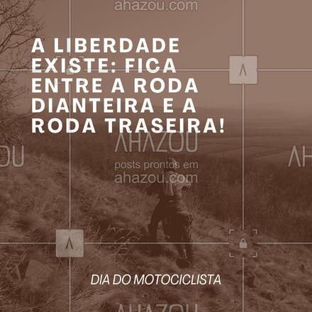 Pilotar uma moto é a definição perfeita de liberdade! Feliz Dia do Motociclista! #AhazouAuto  #esteticaautomotiva #automotiva #automobilistico #frases #motivacional #diadomotociclista #frasemotivacional #moto