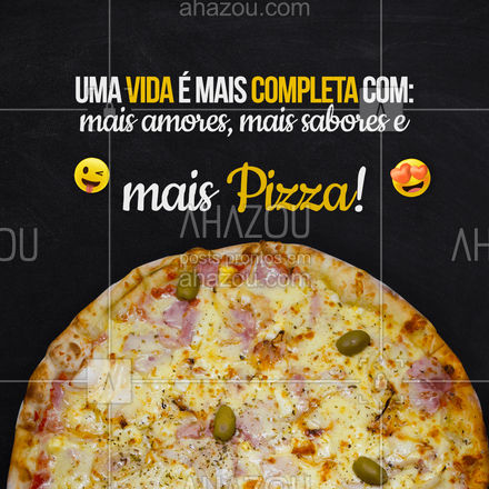 Pizza, pizza e pizza, por dias mais felizes! 💖🍕 #ahazoutaste #pizza  #pizzalife  #pizzalovers  #pizzaria