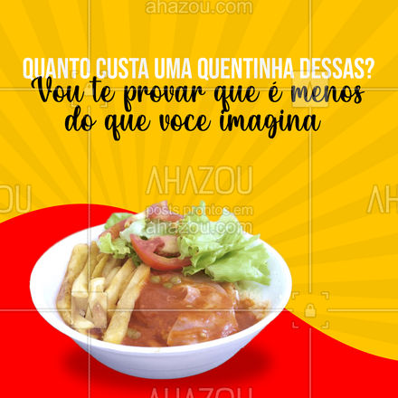 Só o sabor e o cheiro já pagam toda essa quentinha deliciosa!! Ficou com vontade, peça já a sua!   #ahazoutaste  #marmitando #comidacaseira #marmitas #quentinha #comidaboa #caseira #irresistível