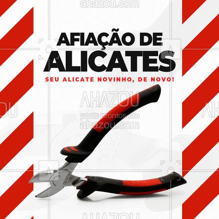 Está precisando amolar seu alicate? É só trazer aqui! #AhazouServiços  #chaveiro #serviços #alicate #afiaçãodealicates #amolação