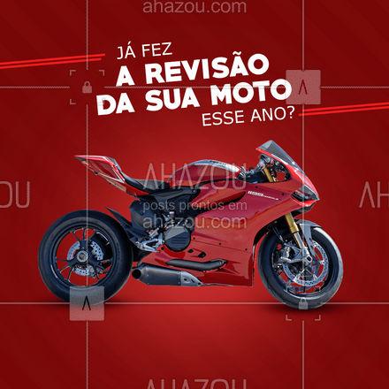 Ainda não fez a revisão da sua moto? Então traga ela pra cá e deixe com a gente! ? #motos #MecânicaDeMotos #AhazouAuto #mecanicoautomotivo #mecanico #mecanica