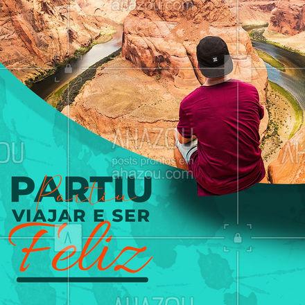 Quer coisa melhor que poder aproveitar o seu tempo viajando? Não tem! Por isso partiu viajar e ser muito feliz. ?✈️ #Viajar #SerFeliz #AhazouTravel #Viagem #Turismo