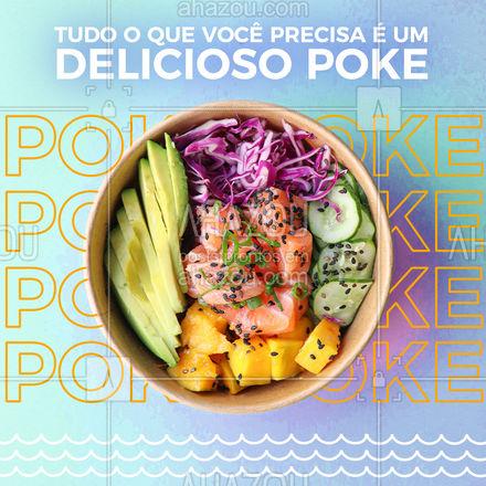 Nosso poke é a sensação da casa, não perca tempo e vem garantir todo o sabor do nosso poke ?#ahazoutaste #poke #sabor #japa #comidajaponesa #ingredientes #convite