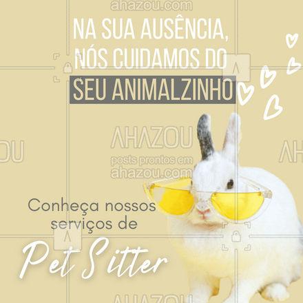 Cuidamos do seu PETAMIGO, ele estará em ótimas mãos!?? #AhazouPet  #petsitting #petsitter #cuidado #animais