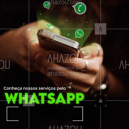 Fique por dentro de tudo que fazemos através do nosso whatsapp! #ahazou  #atendimento #whatsapp #zap #comunicado