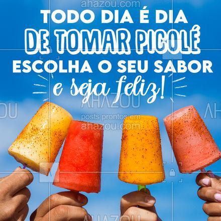 Faça frio ou calor, um picolé sempre é uma boa para deixar o nosso dia mais feliz! ? #picole #sorvete #ahazoutaste  #sorveteria  #icecream  #gelados