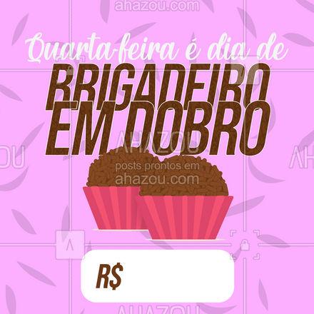 Essa é a promoção que você estava esperando pra sua quarta-feira! ??   #ahazoutaste  #confeitaria #bolo #doces #confeitariaartesanal #bolosdecorados #brigadeiro #quarta-feira #promocao