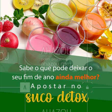 Assim você termina o ano com o corpo mais saudável e livre de toxinas! ? #SucoDetox #detox #ahazoutaste  #fit