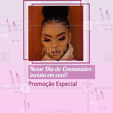 Aproveite para cuidar de si nesse Dia do Consumidor. Entre em contato e saiba mais: (inserir contato). #sobrancelhas #cílios #AhazouBeauty  #lashes #beauty #beleza #diadoconsumidor