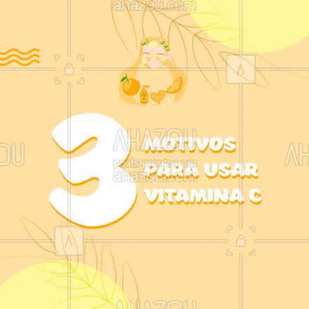 A vitamina C tem inúmeros benefícios! Vamos te apresentar 3 deles: - Ação antioxidante; - Ação clareadora; - Ação antienvelhecimento. Você sabia desses benefícios? Conta pra gente: Você já utiliza vitamina C na sua rotina de skin care? #vitac #vitaminac  #AhazouBeauty  #beleza #saúde #skincare #skincare