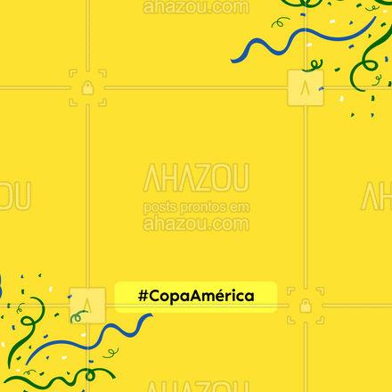 Vamos comemorar do melhor jeito: COM COMIDA! ? #copadaamerica #futebol #delivery #ahazoutaste  #gastronomia #culinaria #instafood