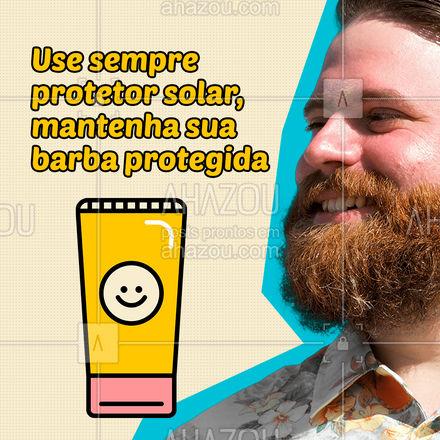 Uma solução prática e muito eficaz para evitar queimaduras no rosto e dos fios da barba. O uso de filtro solar em spray seguido de uma massagem na barba e no rosto, ajudam a prevenir regiões que existem menos pelos como bochechas ou falhas na barba. ??  #AhazouBeauty #barbeirosbrasil #barbearia #barba #cuidadoscomabarba #barberShop