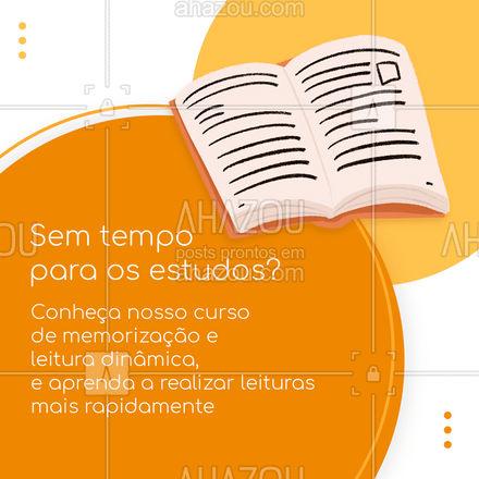 Estude para a prova de uma forma mais rápida e eficiente, conheça nosso curso de memorização e leitura dinâmica. 📚#curso #memorizaçãoeleituradinâmica #AhazouEdu#estudos #educação