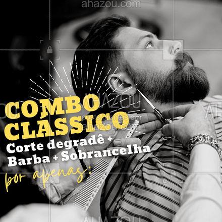 E para hoje temos aquele combo no precinho! Bora dar um talento no visual? Aproveite e agende o seu horário agora mesmo! ?? #combo #promocao #cabelomasculino #AhazouBeauty #cortemasculino #barbeirosbrasil #barbeiro #barberShop #barbearia #barba #barber