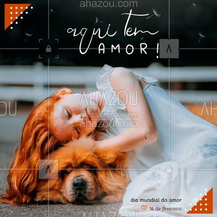 Todo dia tem amor! ? #ahazou #frasesmotivacionais #motivacionais #motivacional #frase #diamundialdoamor #amor #diadoamor #ahazou