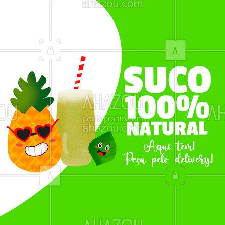 Bora pedir um suco natural? Feito com produtos de qualidade direto do nosso hortifruti! #ahazoutaste  #hortifruti #organic #alimentacaosaudavel #qualidade #vidasaudavel #mercearia #frutas #delivery #suconatural