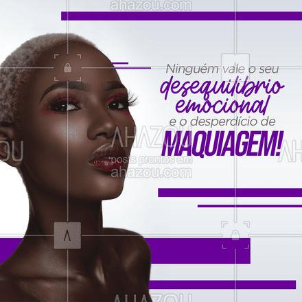 Dica do dia: não gaste sua make babado com quem não vale a pena! 😉  #make #maquiagem #AhazouBeauty  #makeup  #muabrazil  #maquiadora
